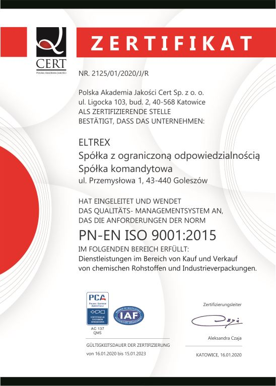 ISO 9001:2015 in Deutsch