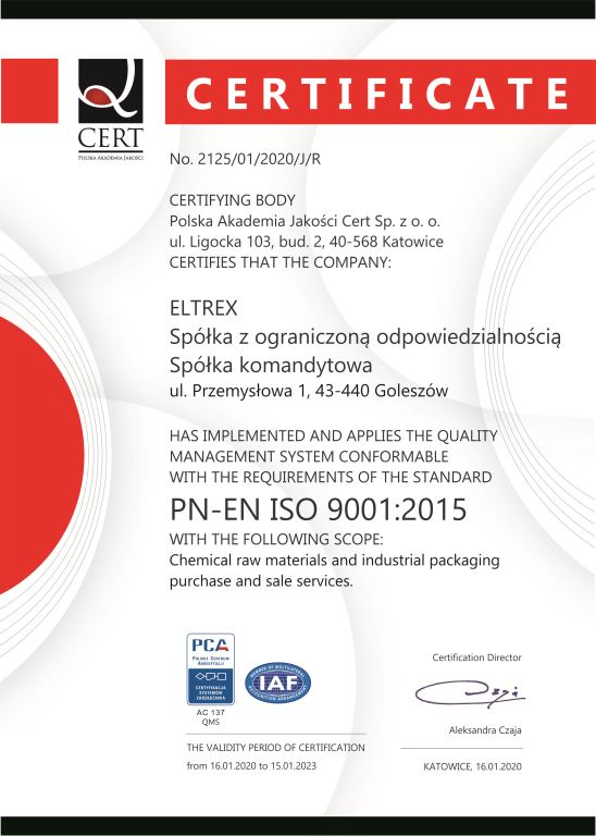 ISO 9001:2015 in English